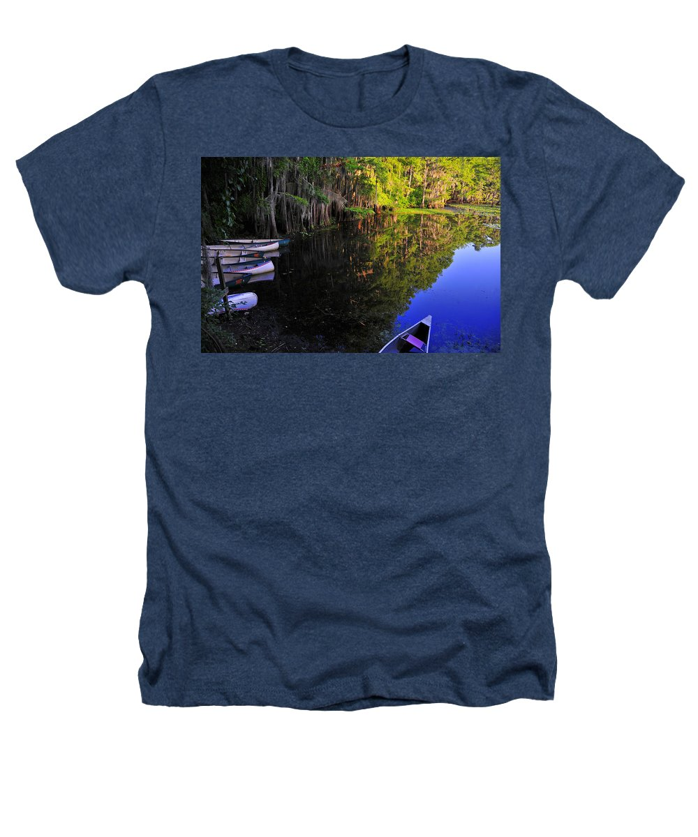 Skip Hunt Heathers T-Shirt featuring the photograph The Black Lagoon by Skip Hunt