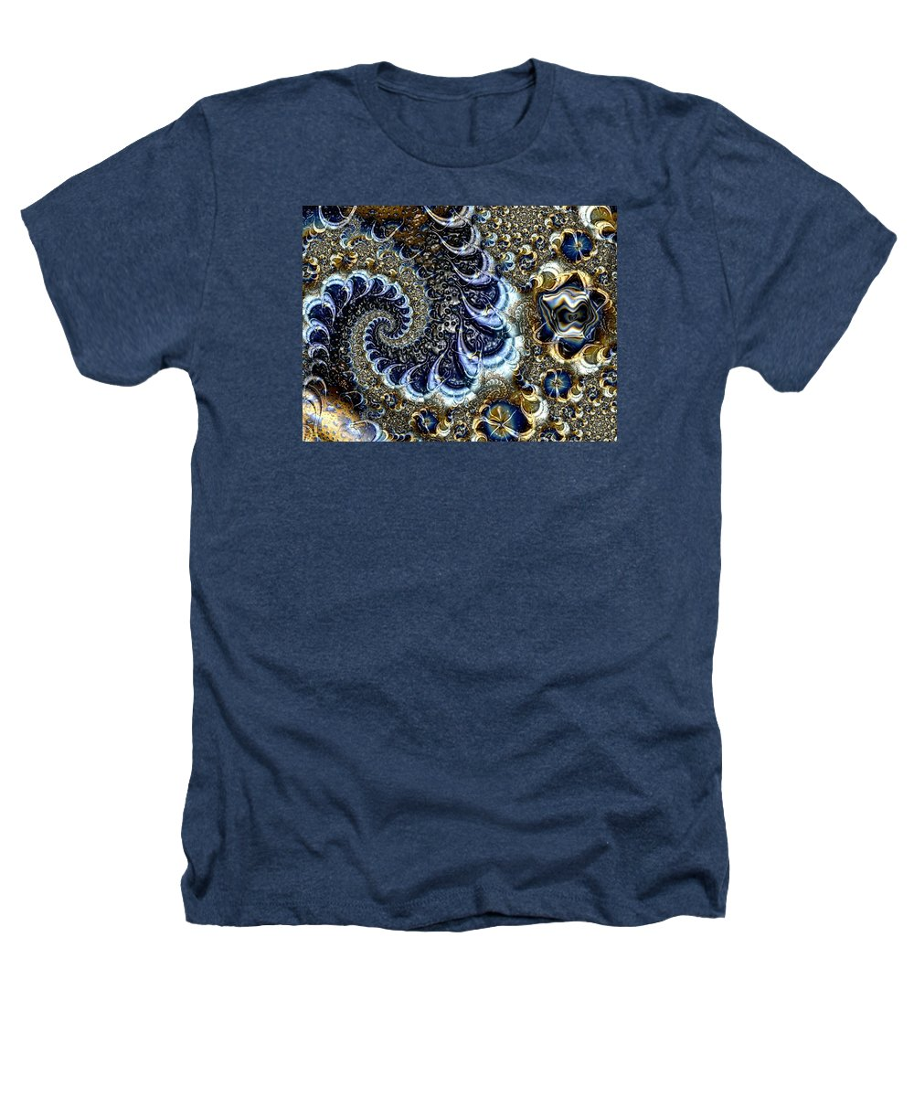 Fractal Diamonds Blue Jewel Dance River Heathers T-Shirt featuring the digital art The Blue Diamonds by Veronica Jackson