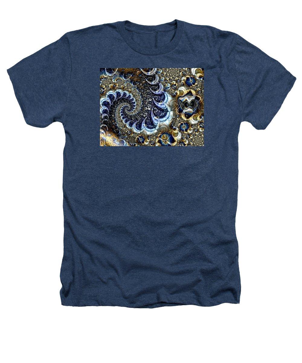 Fractal Diamonds Blue Jewel Dance River Heathers T-Shirt featuring the digital art The Blue Diamonds by Veronica Jackson