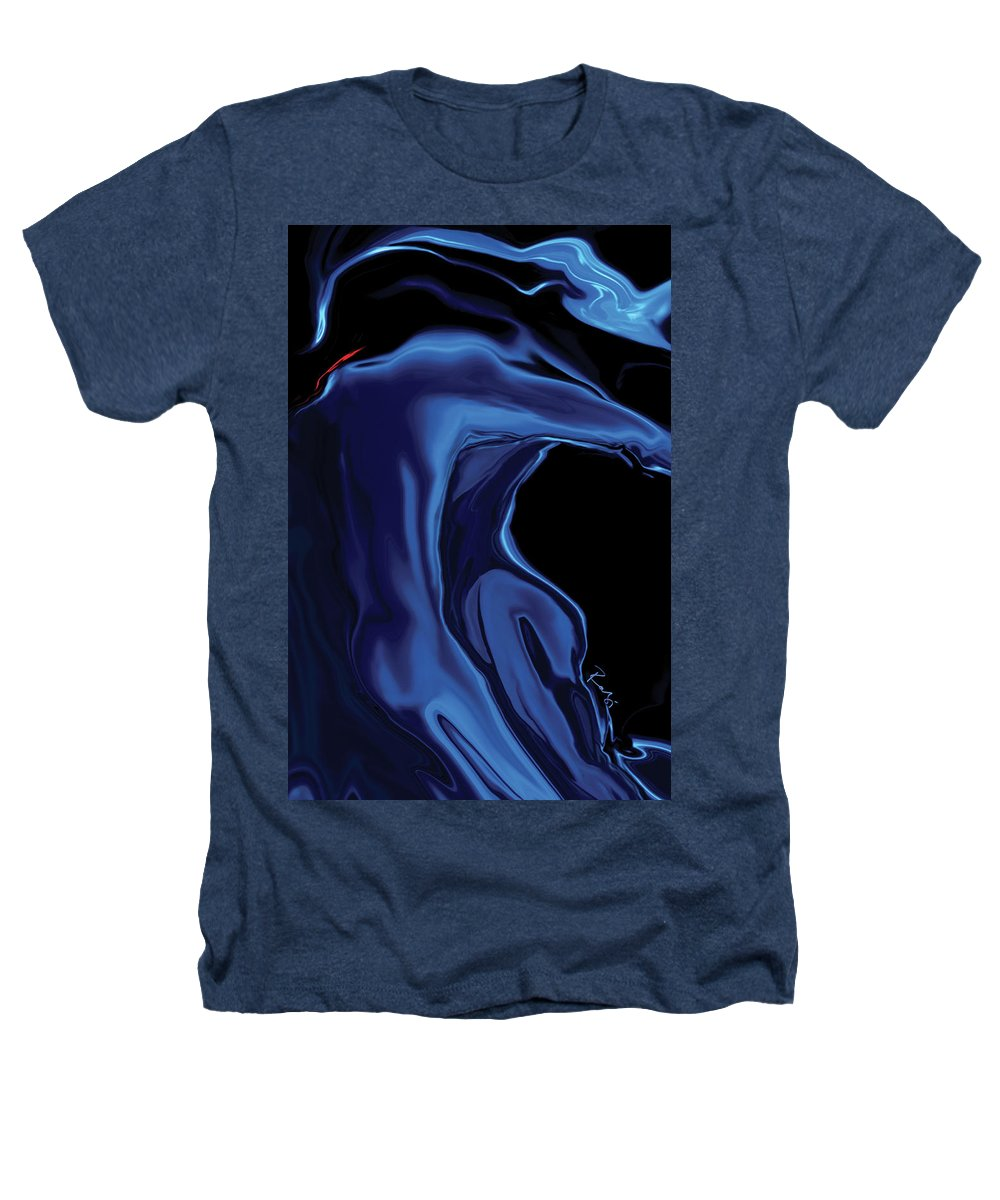 Abstract Heathers T-Shirt featuring the digital art The Blue Kiss by Rabi Khan