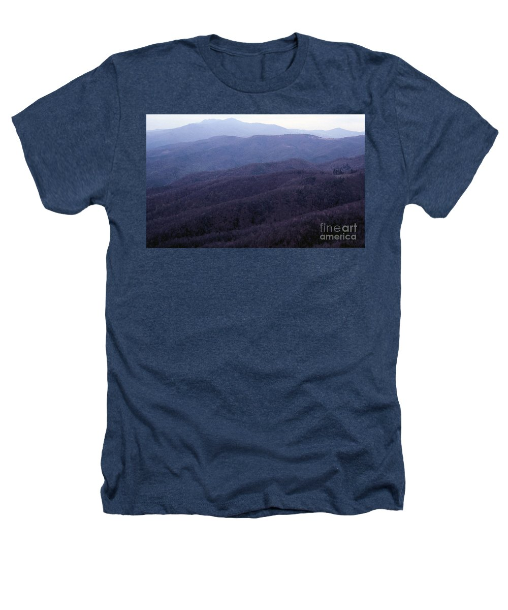 Mountains Heathers T-Shirt featuring the photograph The Blue Ridge by Richard Rizzo