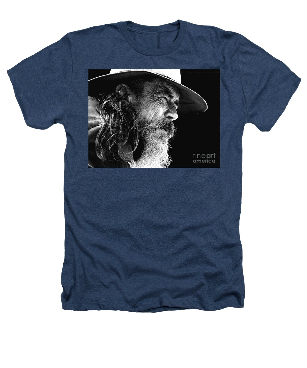 Australian Bushman Hat Heathers T-Shirt featuring the photograph The Bushman by Avalon Fine Art Photography