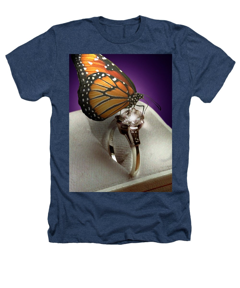 Fantasy Heathers T-Shirt featuring the photograph The Butterfly And The Engagement Ring by Yuri Lev