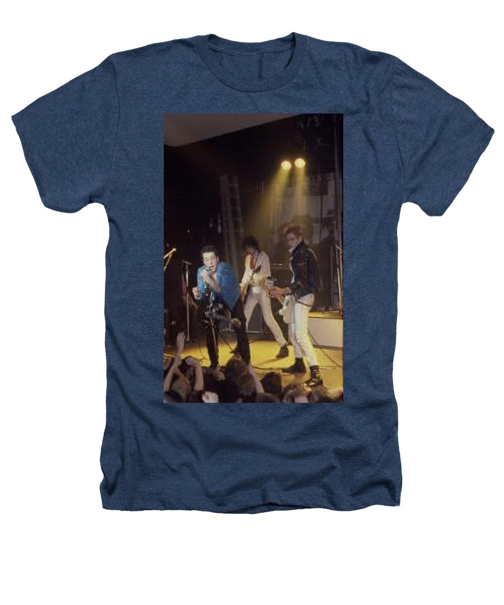 The Clash-london 1978 Photo By Dawn Wirth-copyrighted Heathers T-Shirt featuring the photograph The Clash-london - July 1978 by Dawn Wirth