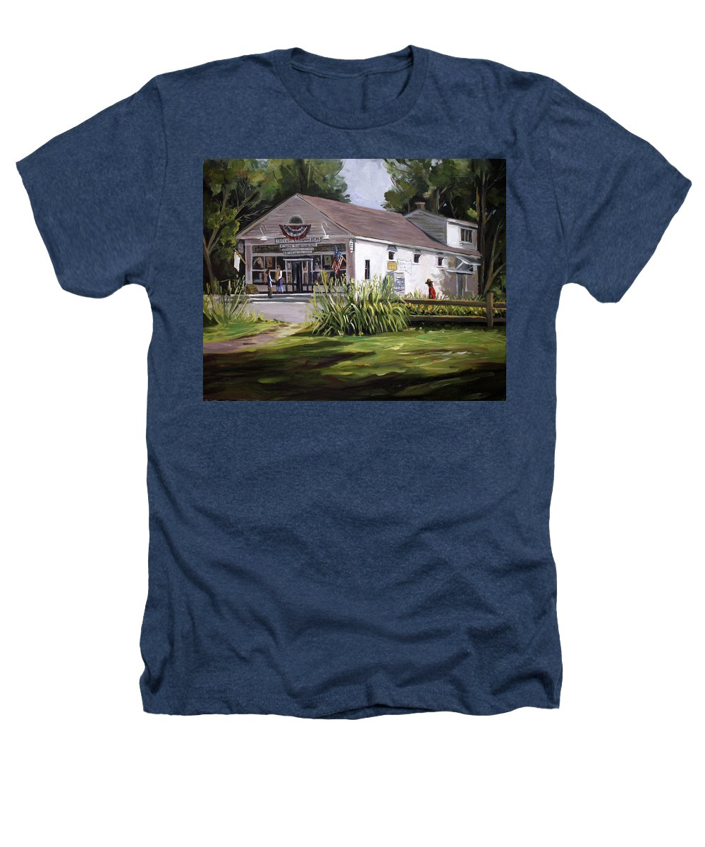Buildings Heathers T-Shirt featuring the painting The Country Store by Nancy Griswold