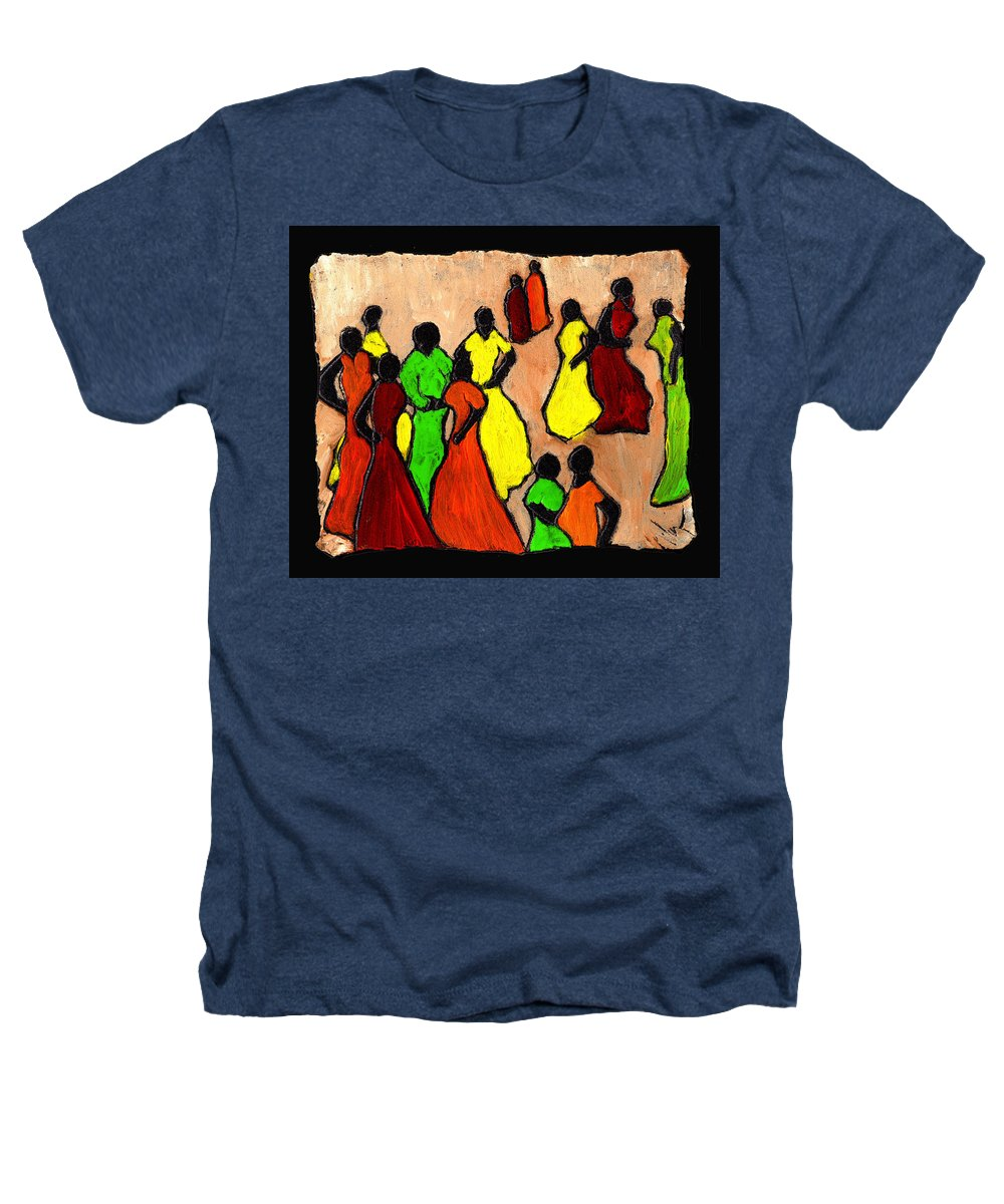 Women Heathers T-Shirt featuring the painting The Gossips by Wayne Potrafka