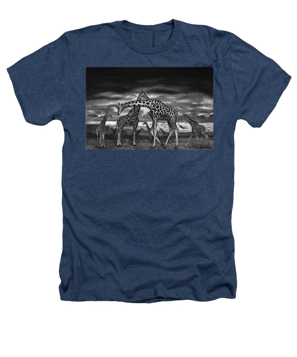 The Herd Heathers T-Shirt featuring the drawing The Herd by Peter Piatt