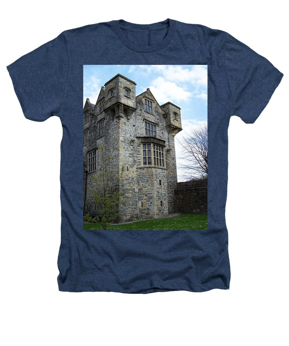 Ireland Heathers T-Shirt featuring the photograph The Keep At Donegal Castle Ireland by Teresa Mucha