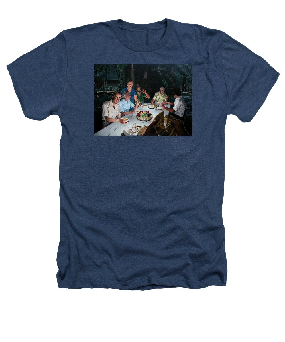 Last Supper Heathers T-Shirt featuring the painting The Last Supper by Dave Martsolf