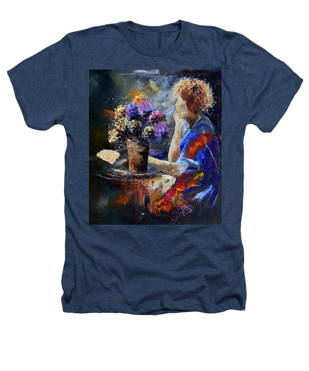 Girl Nude Heathers T-Shirt featuring the painting The Letter by Pol Ledent