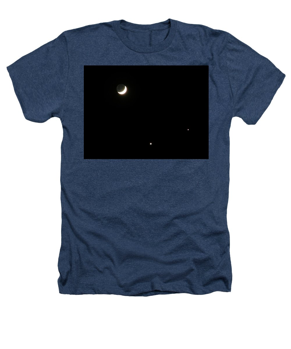 Moon Heathers T-Shirt featuring the photograph The Moon And Stars by Gale Cochran-Smith