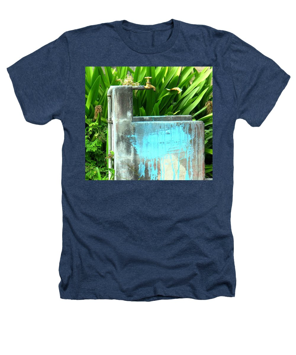 Water Heathers T-Shirt featuring the photograph The Neighborhood Water Pipe by Ian MacDonald