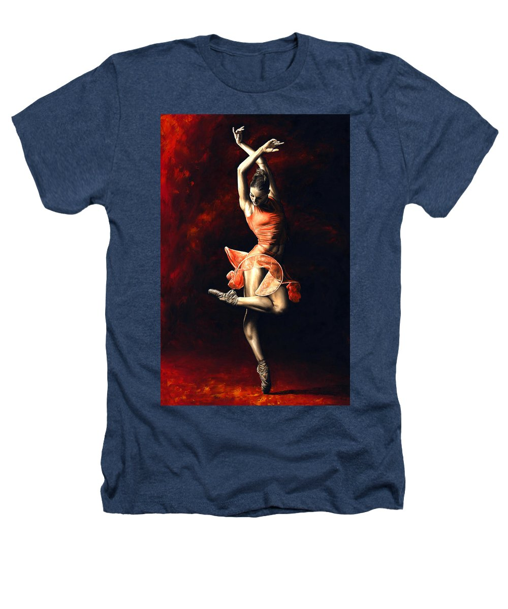 Dancer Heathers T-Shirt featuring the painting The Passion Of Dance by Richard Young