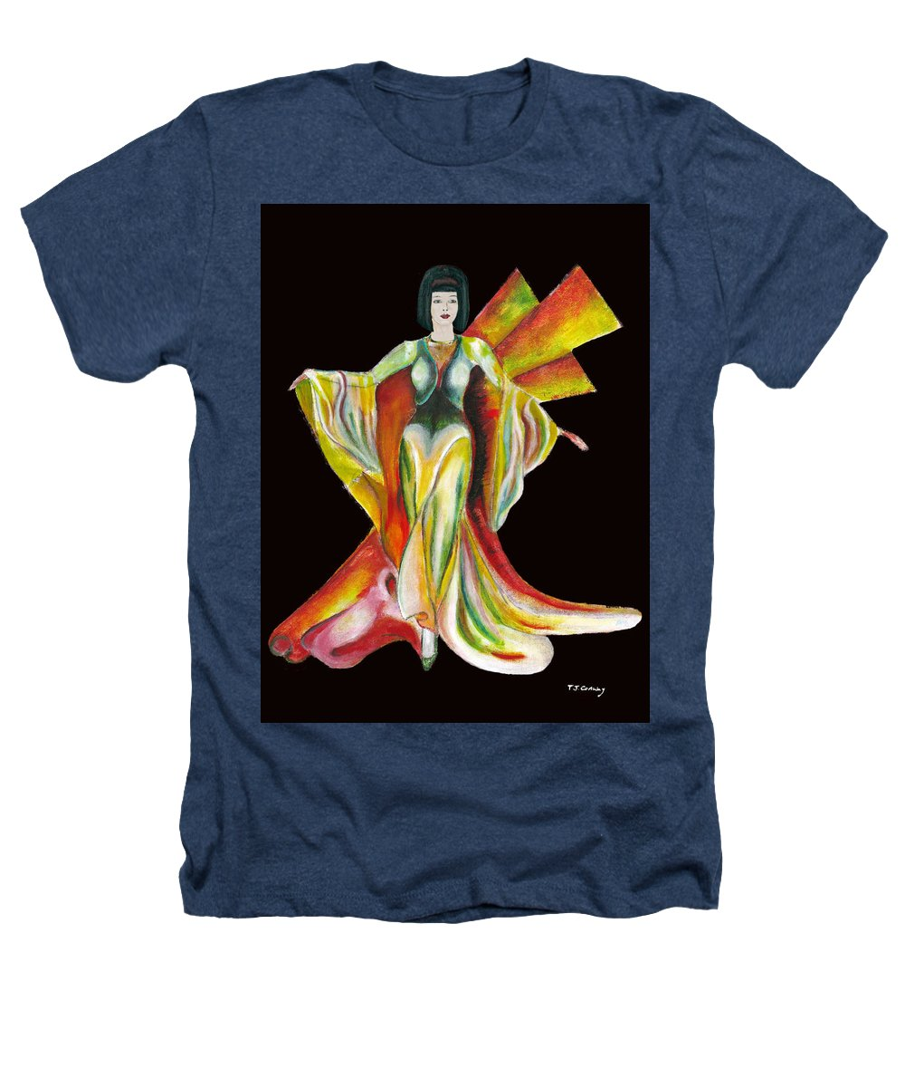 Dresses Heathers T-Shirt featuring the painting The Phoenix 2 by Tom Conway