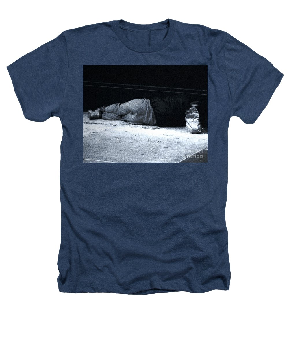 Homeless Heathers T-Shirt featuring the photograph The Sidewalks Of New York by RC deWinter
