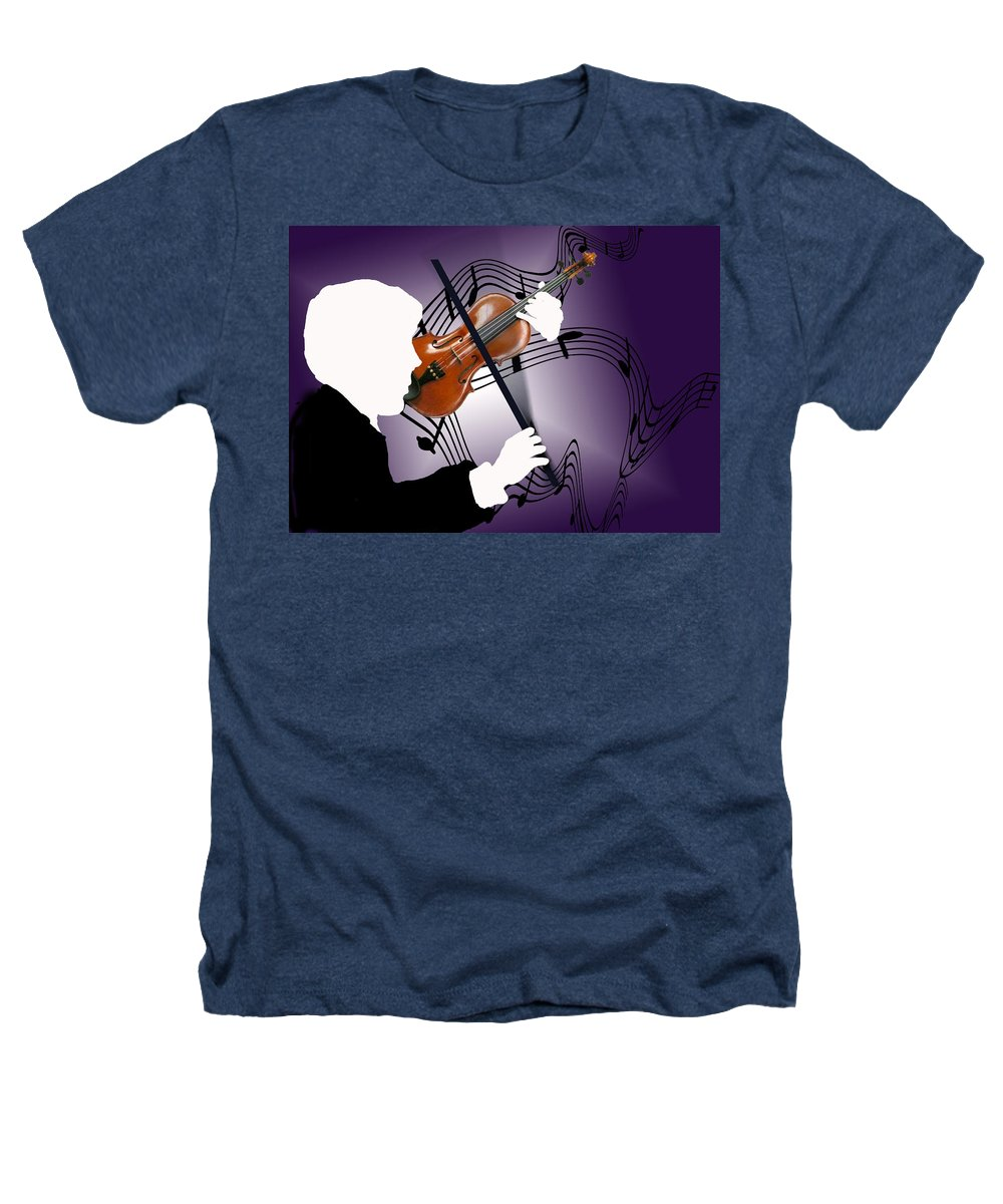 Violin Heathers T-Shirt featuring the digital art The Soloist by Steve Karol