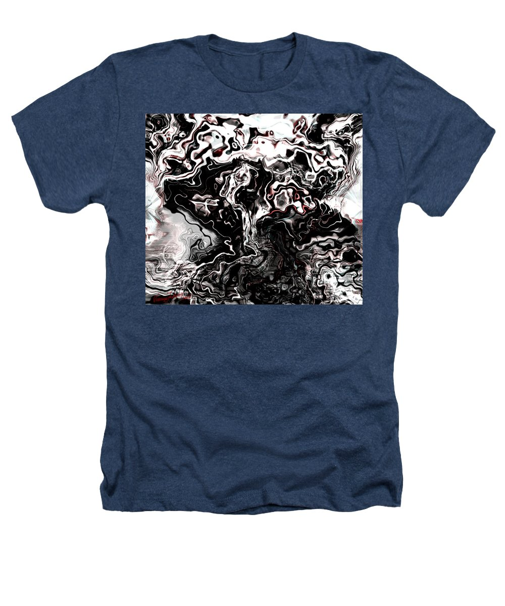 Storm Wind Clouds Nature Wind Heathers T-Shirt featuring the digital art The Storm by Veronica Jackson