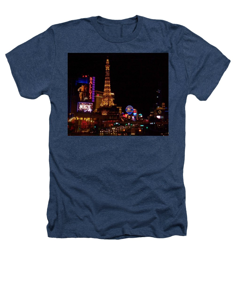 Vegas Heathers T-Shirt featuring the photograph The Strip At Night 1 by Anita Burgermeister