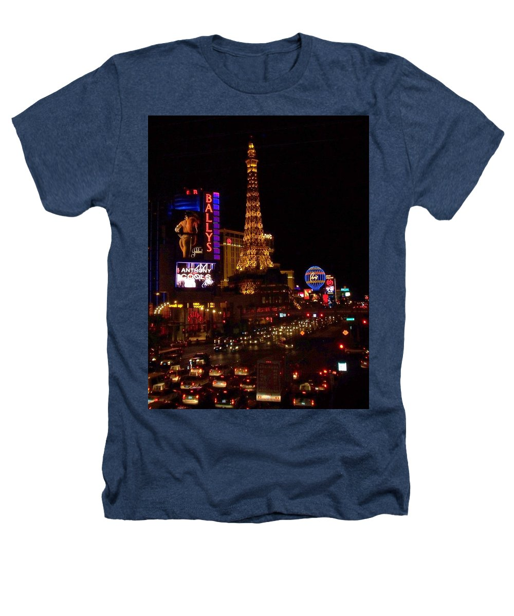 Vegas Heathers T-Shirt featuring the photograph The Strip At Night 2 by Anita Burgermeister