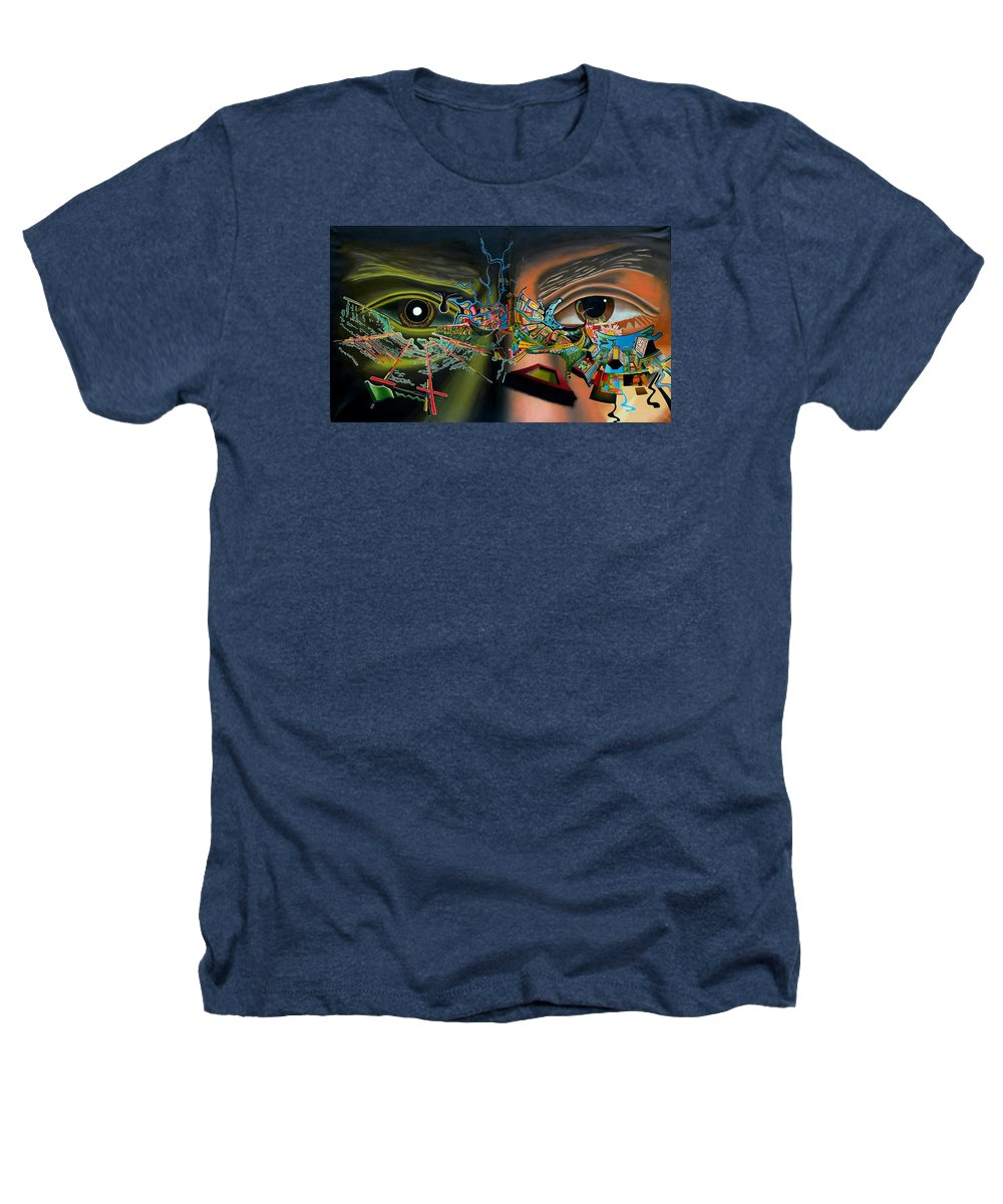 Surreal Heathers T-Shirt featuring the painting The Surreal Bridge by Dave Martsolf