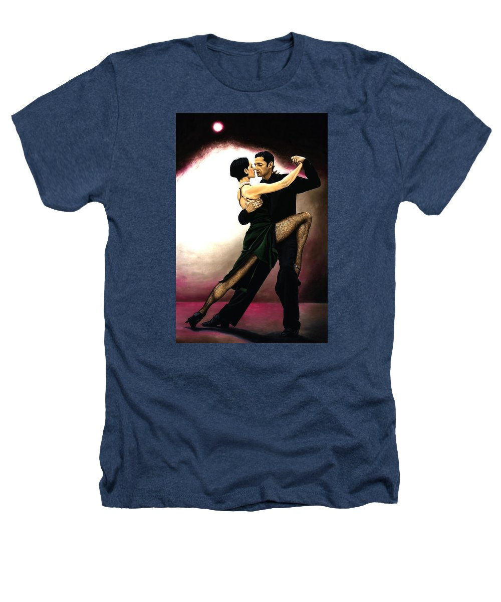 Tango Heathers T-Shirt featuring the painting The Temptation Of Tango by Richard Young