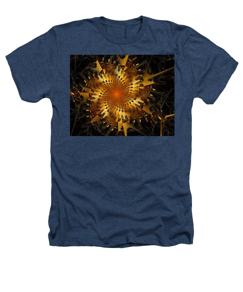 Digital Art Heathers T-Shirt featuring the digital art The Wheels Of Time by Amanda Moore