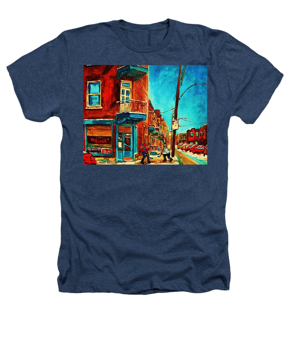 Wilenskys Doorway Heathers T-Shirt featuring the painting The Wilensky Doorway by Carole Spandau
