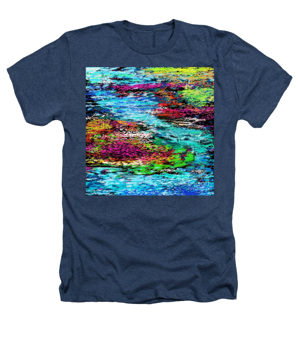Abstract Heathers T-Shirt featuring the digital art Thought Upon A Stream by David Lane