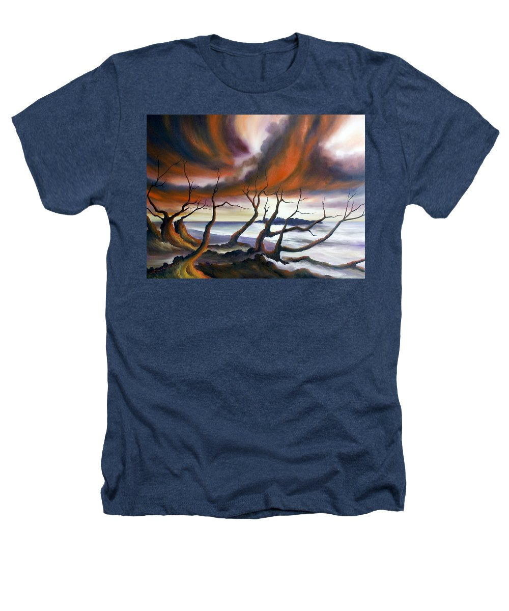 Marsh Heathers T-Shirt featuring the painting Tideland by James Christopher Hill