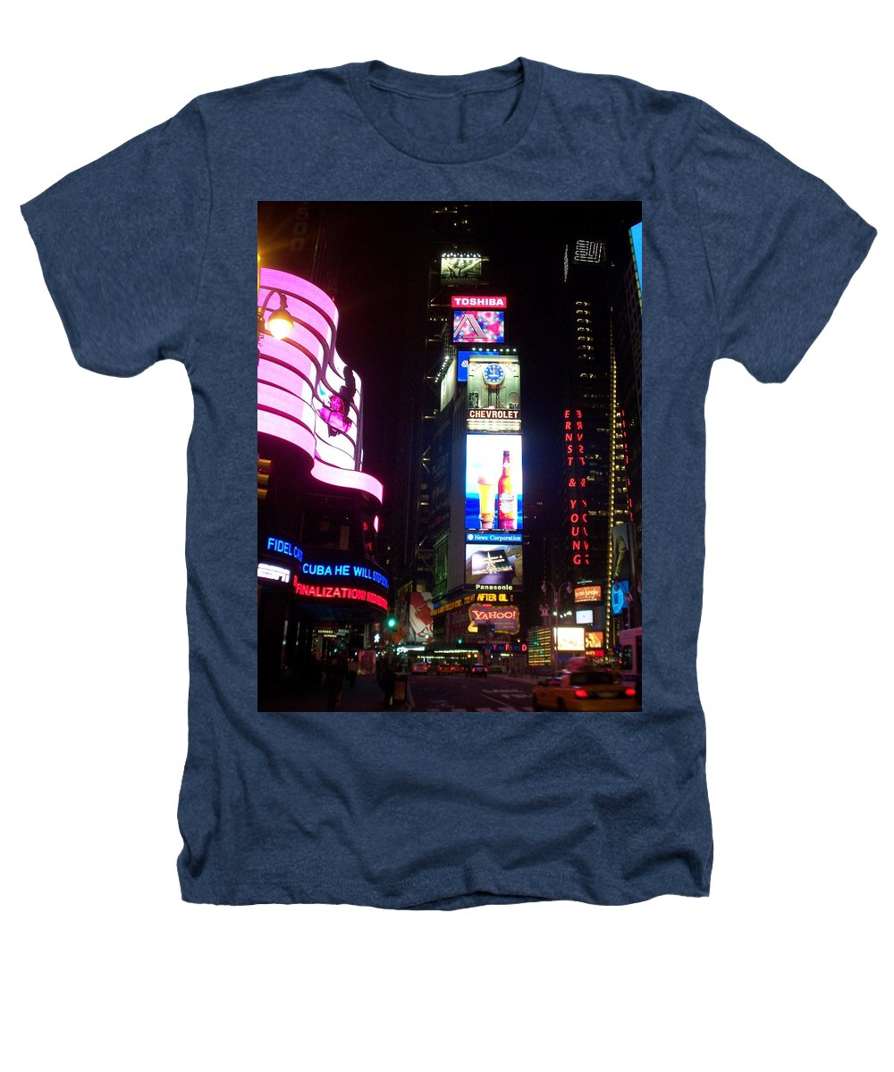 Times Square Heathers T-Shirt featuring the photograph Times Square 1 by Anita Burgermeister