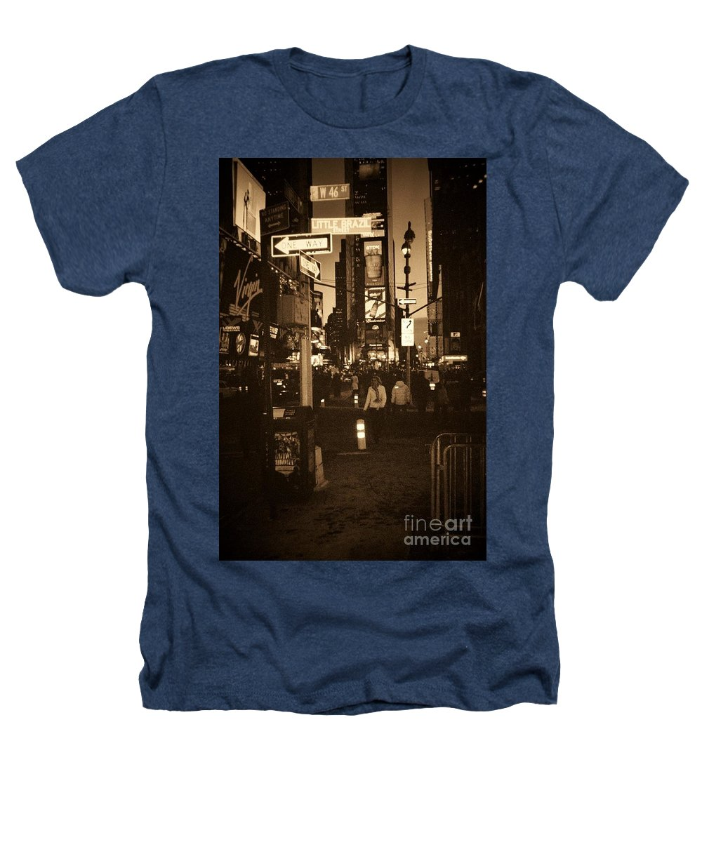 New York Heathers T-Shirt featuring the photograph Times Square by Debbi Granruth