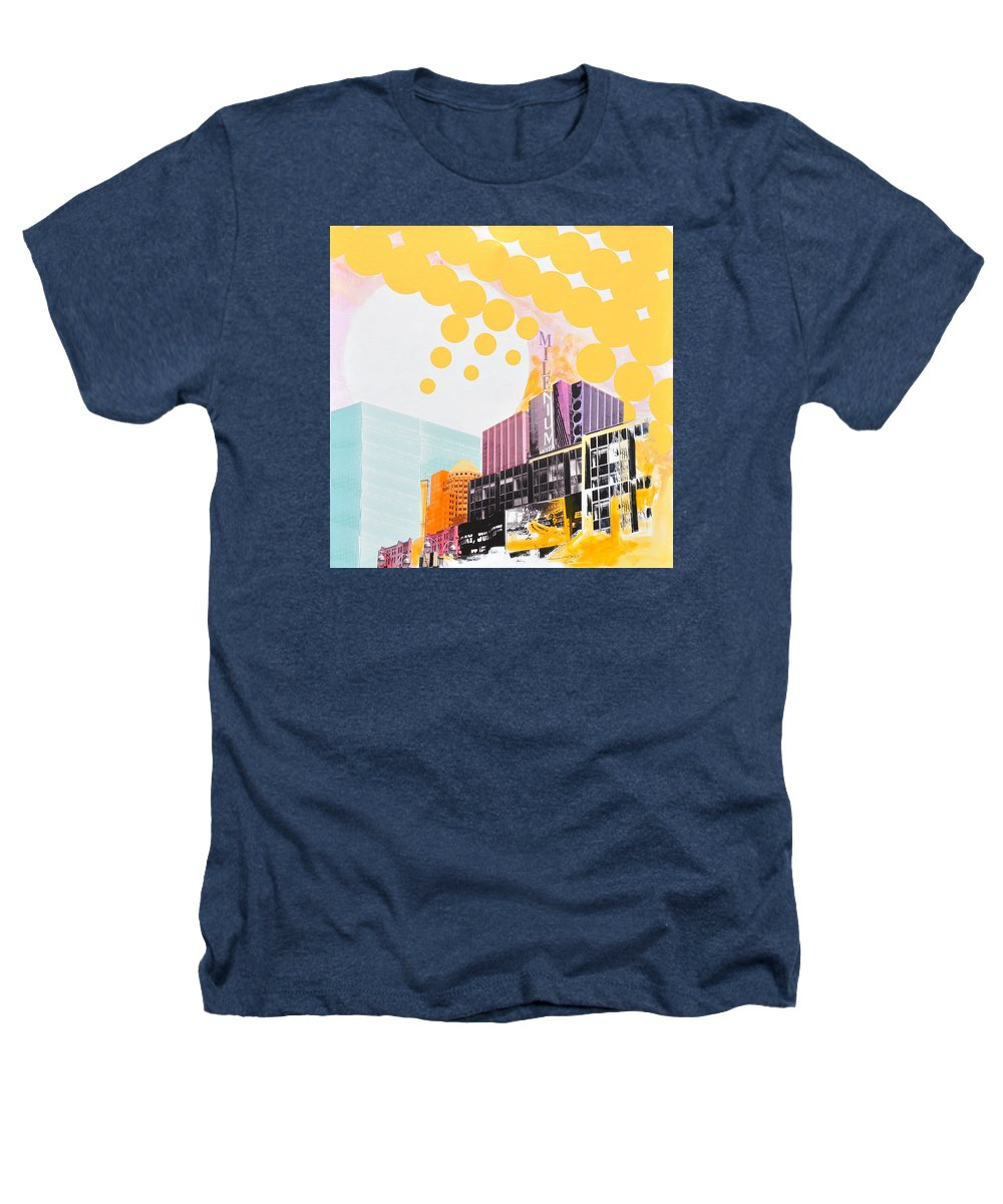 Ny Heathers T-Shirt featuring the painting Times Square Milenium Hotel by Jean Pierre Rousselet