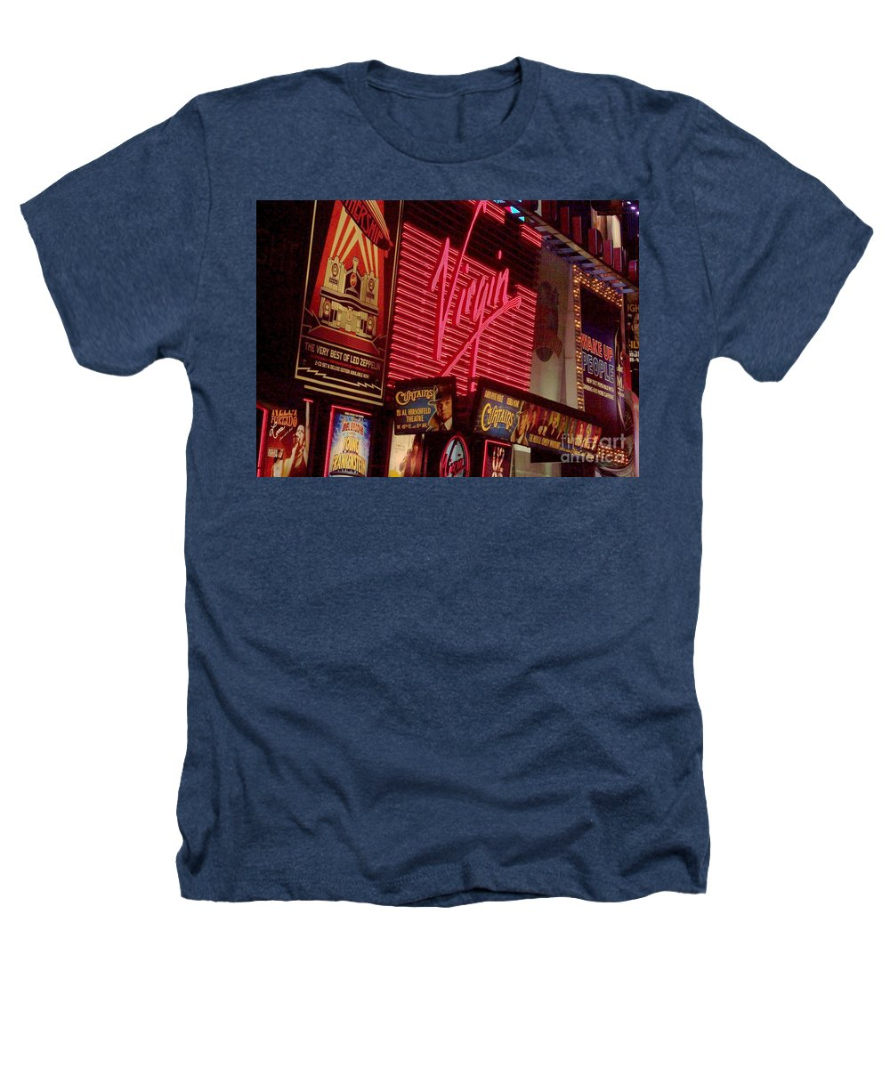 Times Square Heathers T-Shirt featuring the photograph Times Square Night by Debbi Granruth