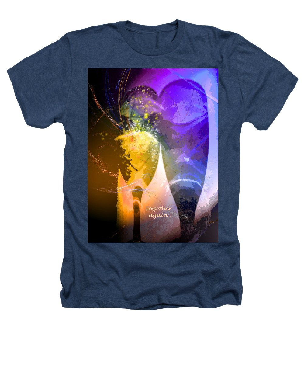 Fantasy Heathers T-Shirt featuring the photograph Together Again by Miki De Goodaboom