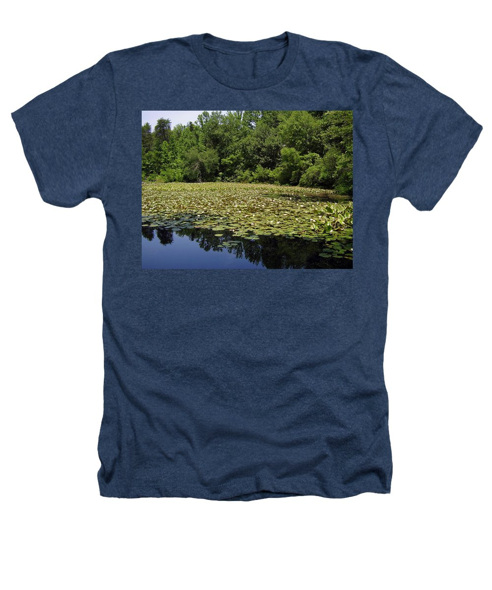Tranquility Heathers T-Shirt featuring the photograph Tranquility by Flavia Westerwelle