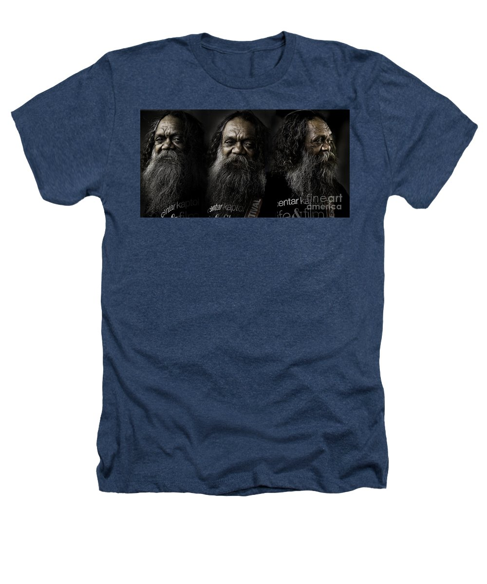 Triptych Heathers T-Shirt featuring the photograph Triptych Of Cedric by Sheila Smart Fine Art Photography
