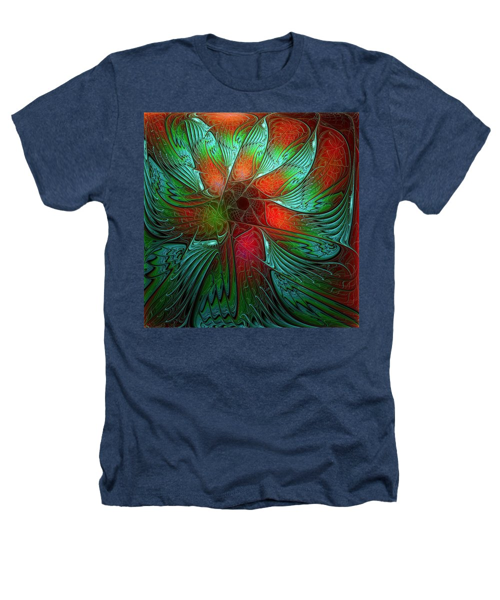 Digital Art Heathers T-Shirt featuring the digital art Tropical Tones by Amanda Moore