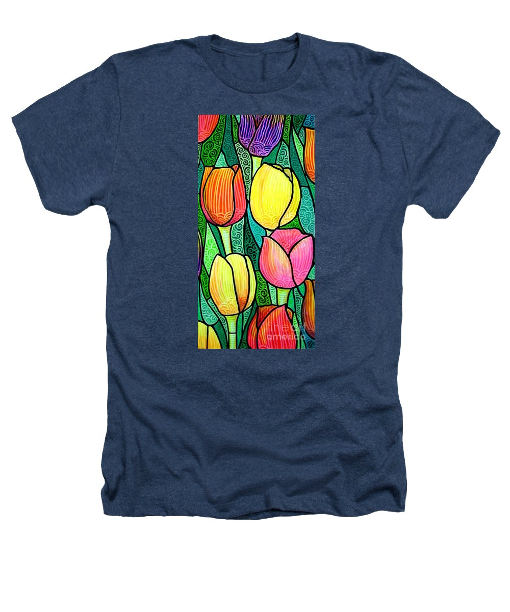Tulips Heathers T-Shirt featuring the painting Tulip Expo by Jim Harris