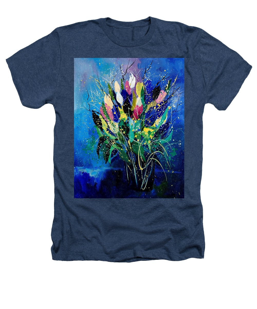 Flowers Heathers T-Shirt featuring the painting Tulips 45 by Pol Ledent