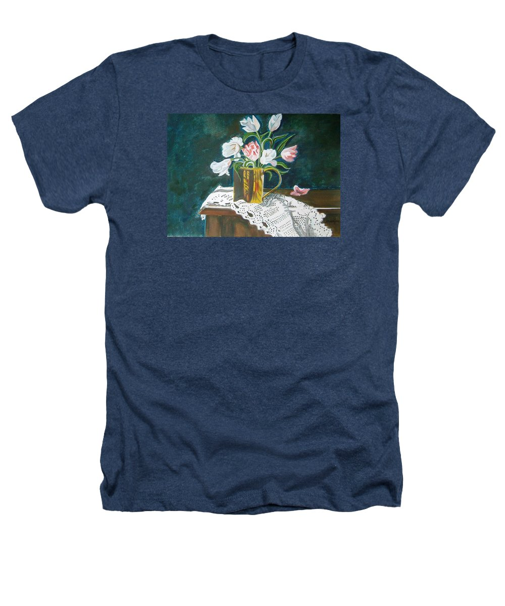 Tulips Heathers T-Shirt featuring the painting Tulips by Manjiri Kanvinde