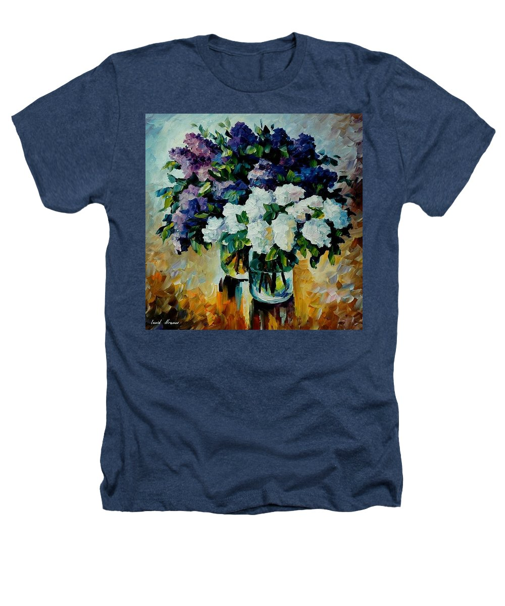 Painting Heathers T-Shirt featuring the painting Two Spring Colors by Leonid Afremov