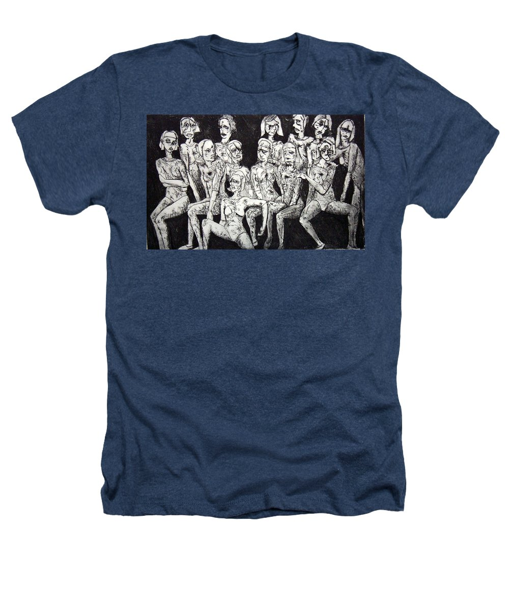 Etching Heathers T-Shirt featuring the print Ugly Girls by Thomas Valentine