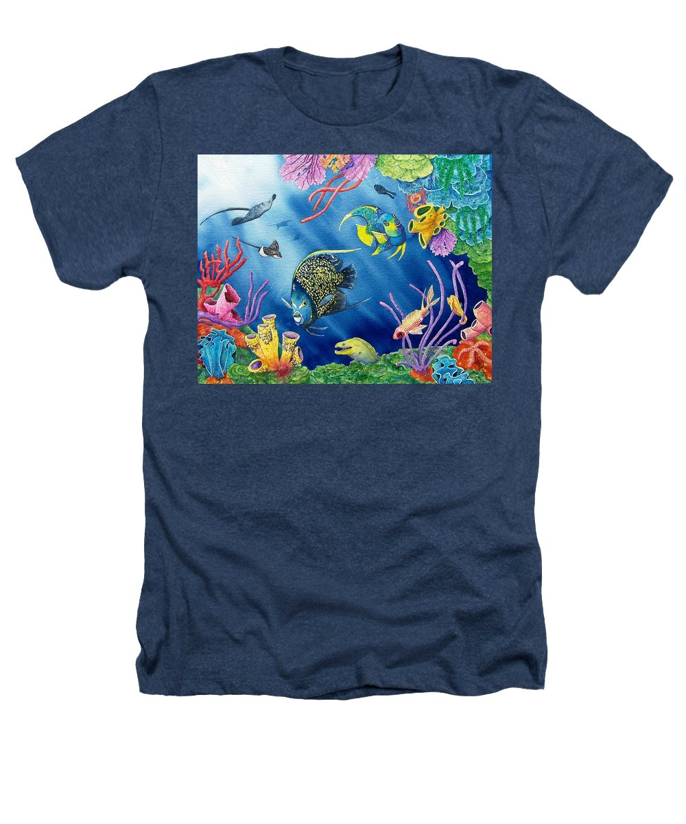 Undersea Heathers T-Shirt featuring the painting Undersea Garden by Gale Cochran-Smith