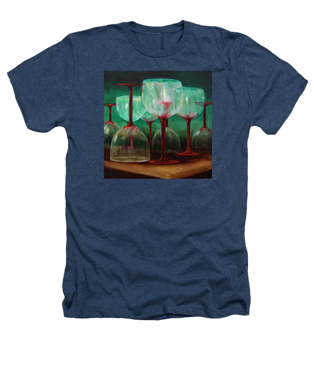 Oil Heathers T-Shirt featuring the painting Upsidedown by Linda Hiller