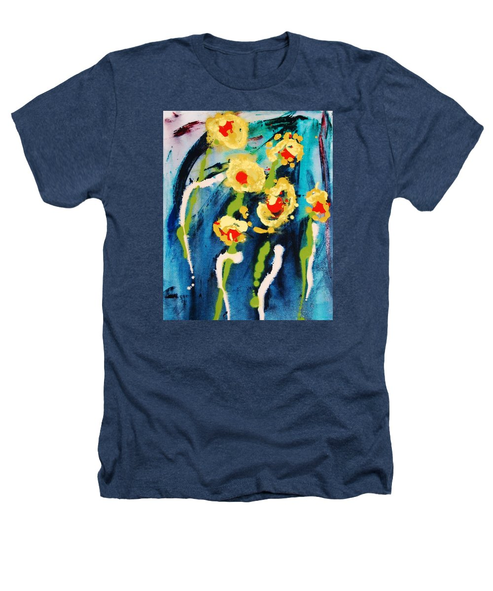 Abstract Heathers T-Shirt featuring the painting Urban Garden by Lauren Luna