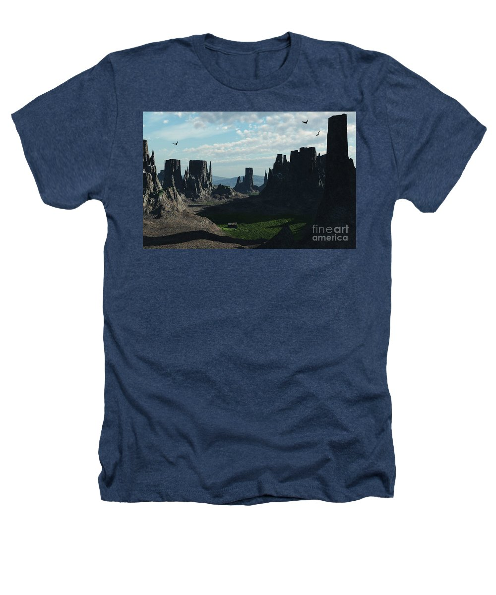 Valley Heathers T-Shirt featuring the digital art Valley Of The Kings by Richard Rizzo