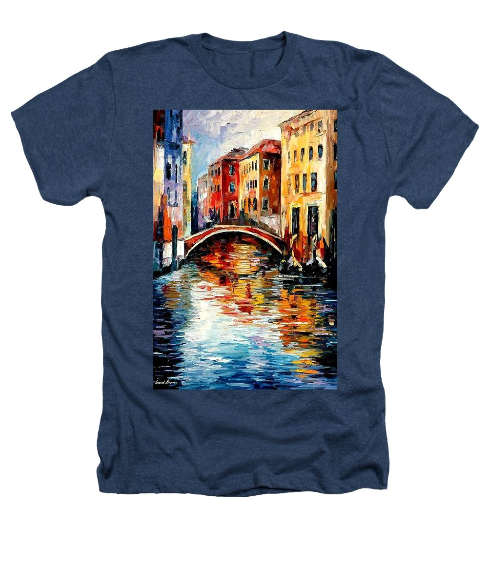 Landscape Heathers T-Shirt featuring the painting Venice by Leonid Afremov
