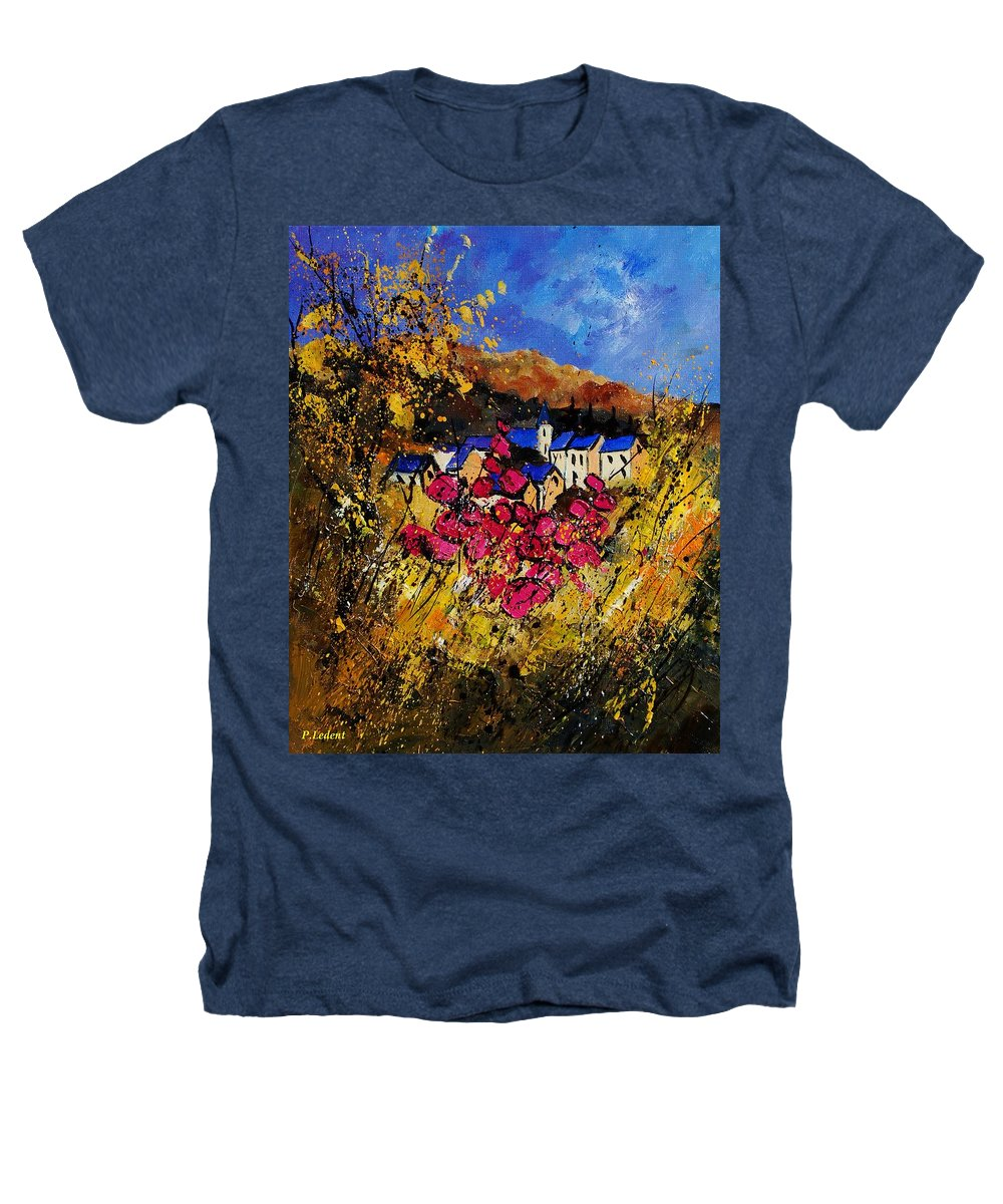Flowers Heathers T-Shirt featuring the painting Village 450808 by Pol Ledent