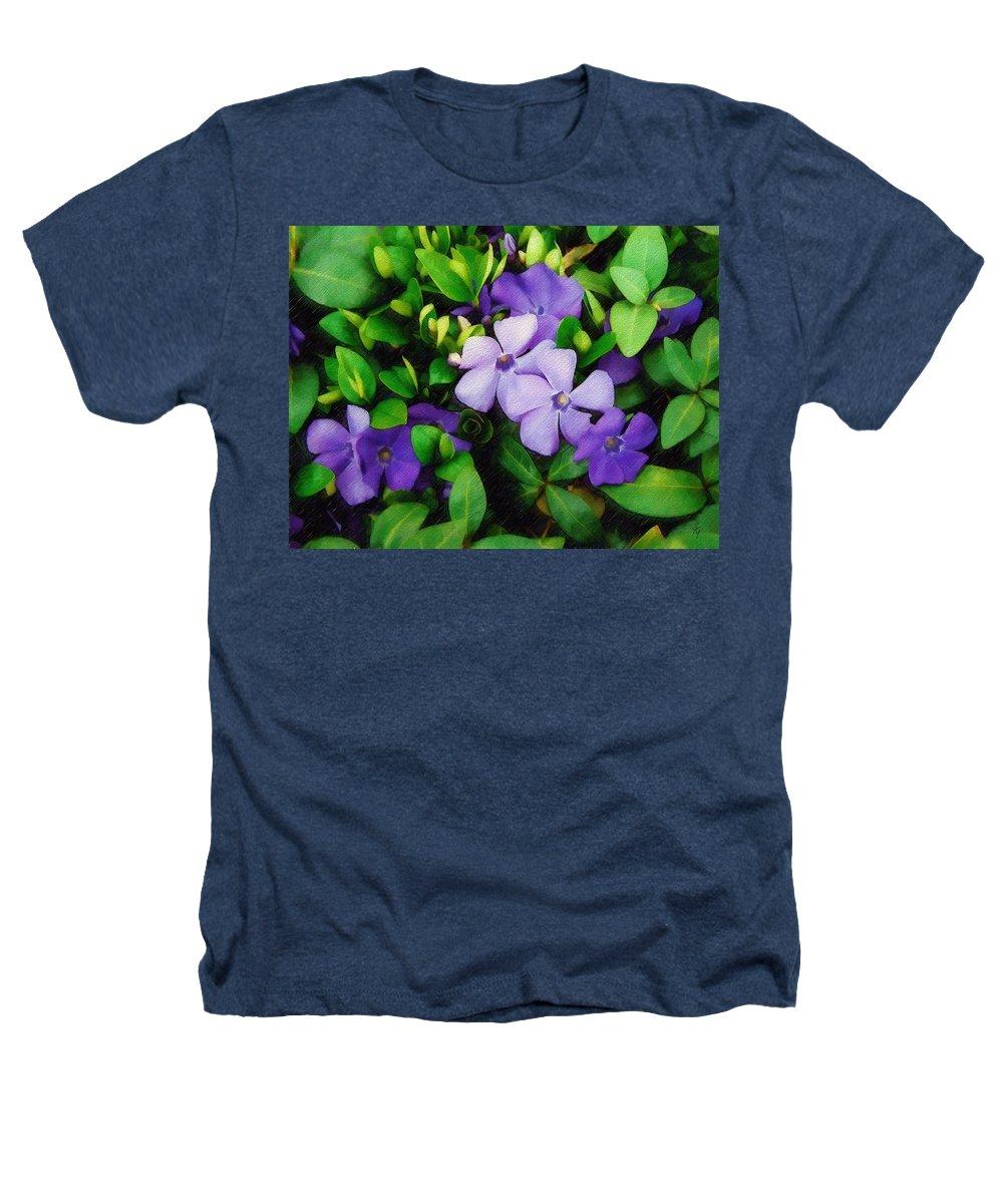 Vinca Heathers T-Shirt featuring the photograph Vinca by Sandy MacGowan