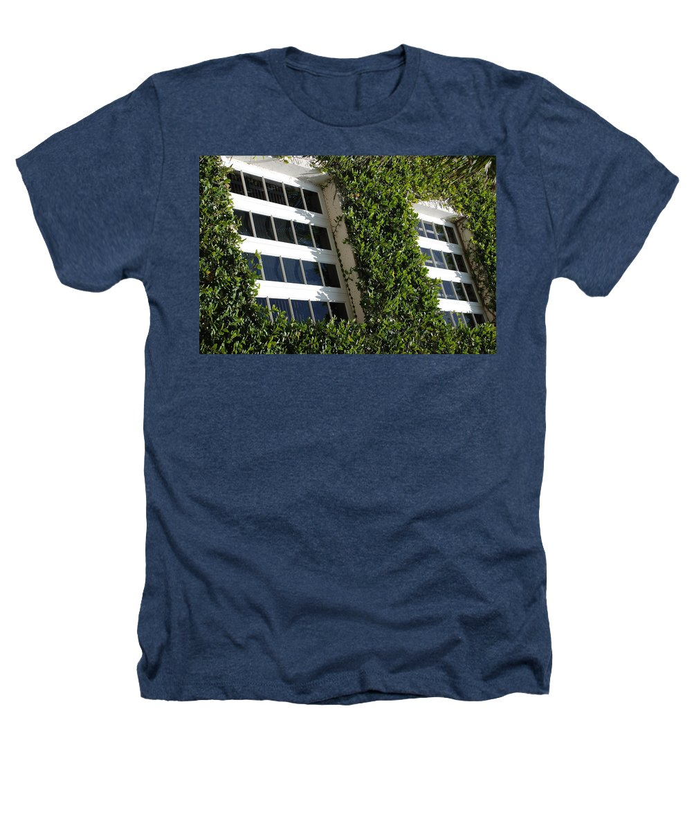 Architecture Heathers T-Shirt featuring the photograph Vines And Glass by Rob Hans